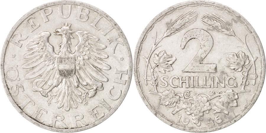 World Coins - Austria, 2 Schilling, 1946, , Aluminum, KM:2872
