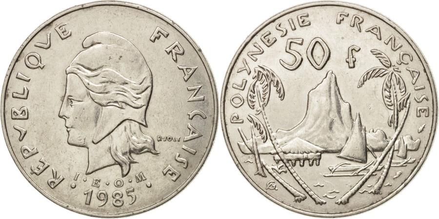 World Coins - French Polynesia, 50 Francs, 1985, Paris, , Nickel, KM:13