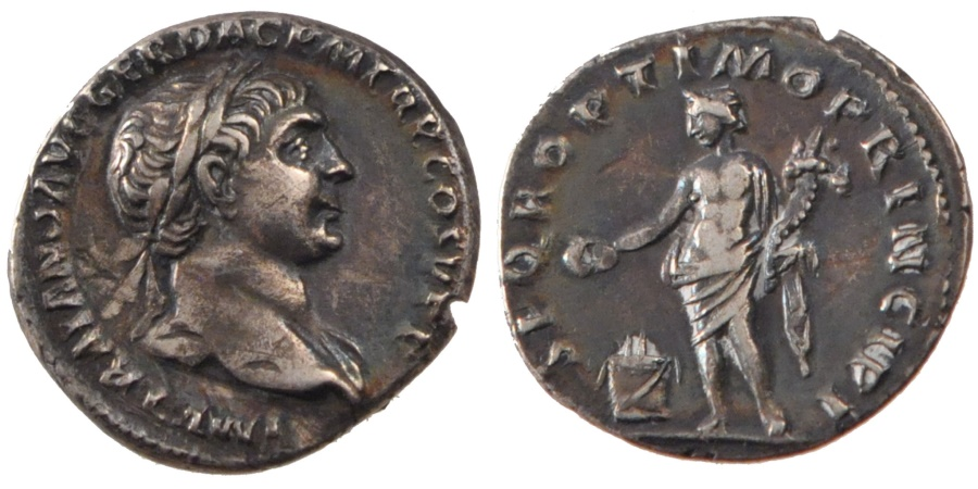 Ancient Coins - Trajan, Denarius, , Silver, Cohen #394, 3.10