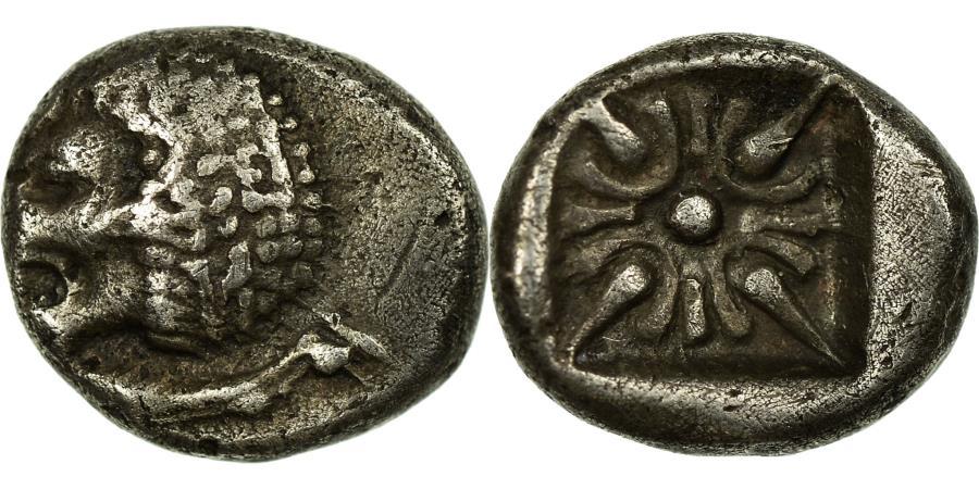 Ancient Coins - Coin, Ionia, Miletos, Obol, 6th-5th century BC, , Silver
