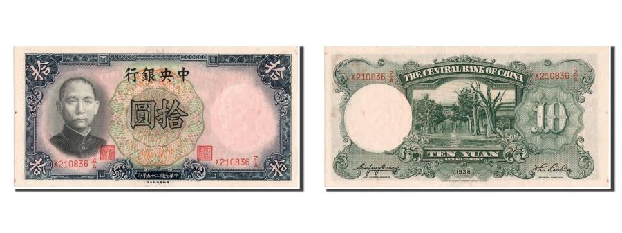 World Coins - China, 10 Yüan, 1936, KM #214a, UNC(64), X210836 Z/A