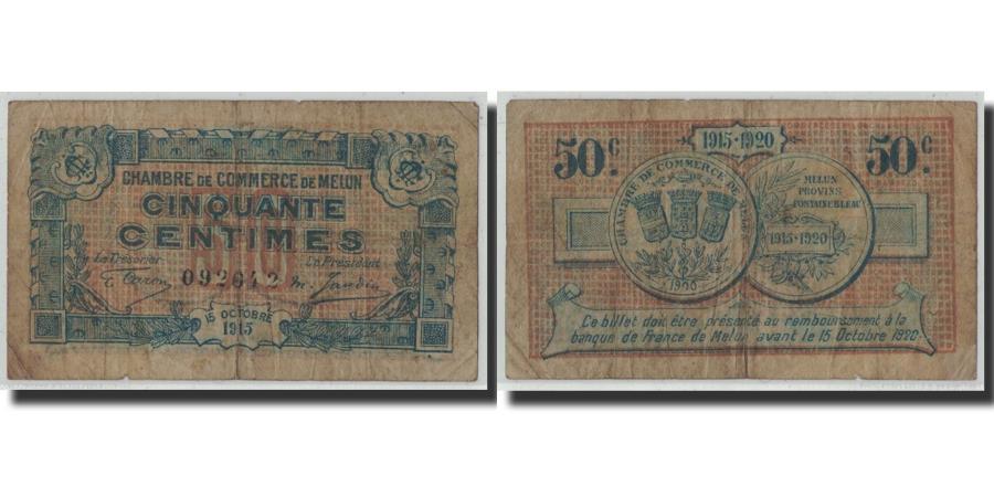 pirot 80 1 50 centimes 1915 france vf 20 25 melun. Black Bedroom Furniture Sets. Home Design Ideas