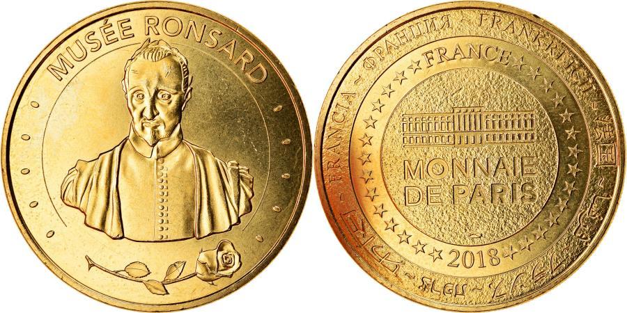 World Coins - France, Token, La Riche - Musée Ronsard, 2018, MDP, , Cupro-nickel