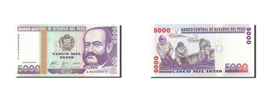 World Coins - Peru, 5000 Intis, 1985-1991, KM:137, 1988-06-28, UNC(65-70)
