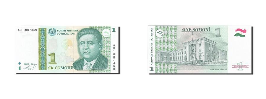 World Coins - Tajikistan, 1 Somoni, 1999, 2010, KM:14A, UNC(65-70)