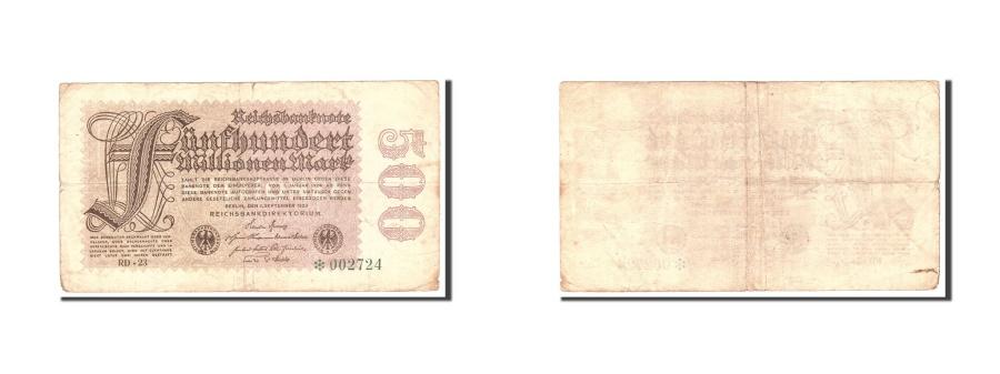 World Coins - Germany, 500 Millionen Mark, 1923, KM:110d, 1923-09-01, VF(20-25)