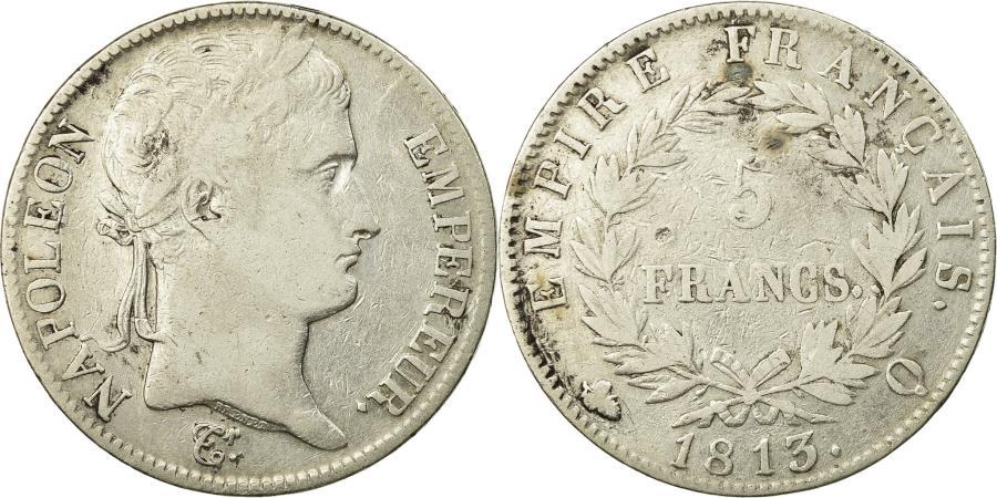 World Coins - Coin, France, Napoléon I, 5 Francs, 1813, Perpignan, , Silver