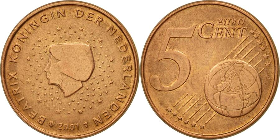 Netherlands, 5 Euro Cent, 2001...
