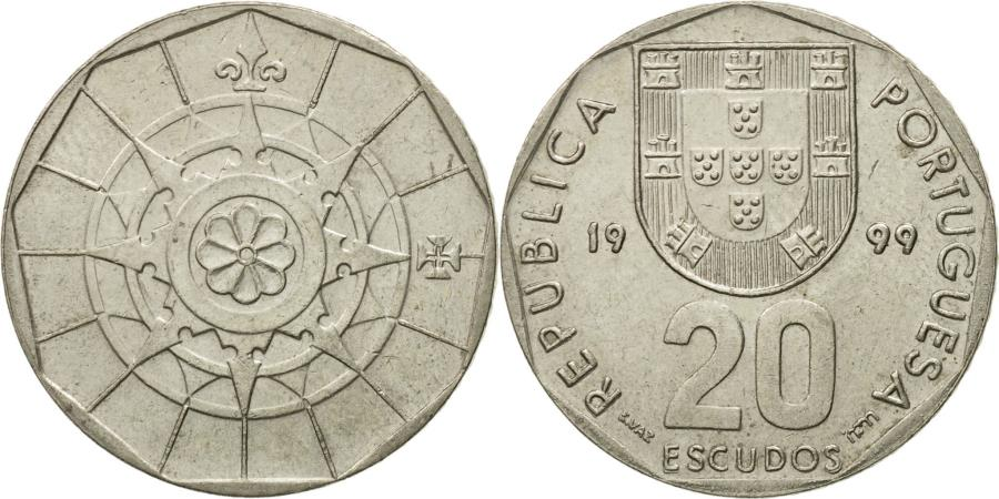 World Coins - Coin, Portugal, 20 Escudos, 1999, , Copper-nickel, KM:634.2