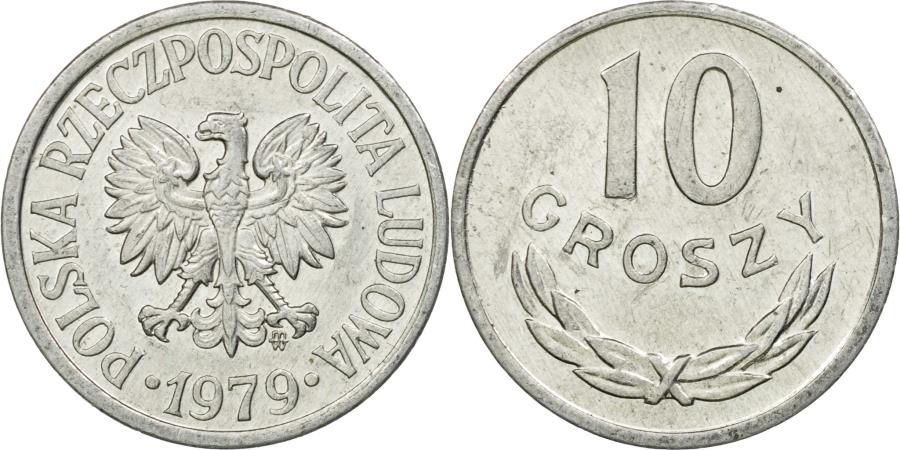 Poland 1979-20 Groszy Aluminum Coin Eagle with wings open