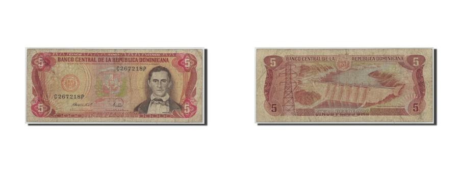 World Coins - Dominican Republic, 5 Pesos Oro, 1968, KM:100a, VG(8-10)