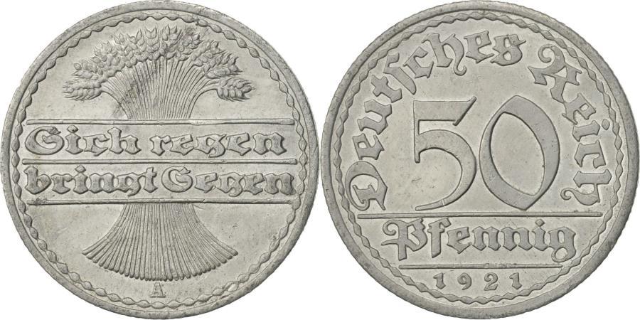 Weimar Republic 50 Pfennig 1921 A Germany