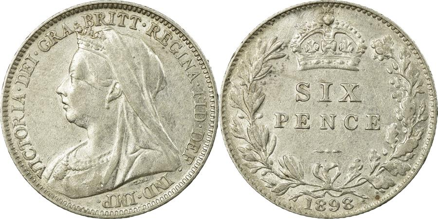 World Coins - Coin, Great Britain, Victoria, 6 Pence, 1898, , Silver, KM:779