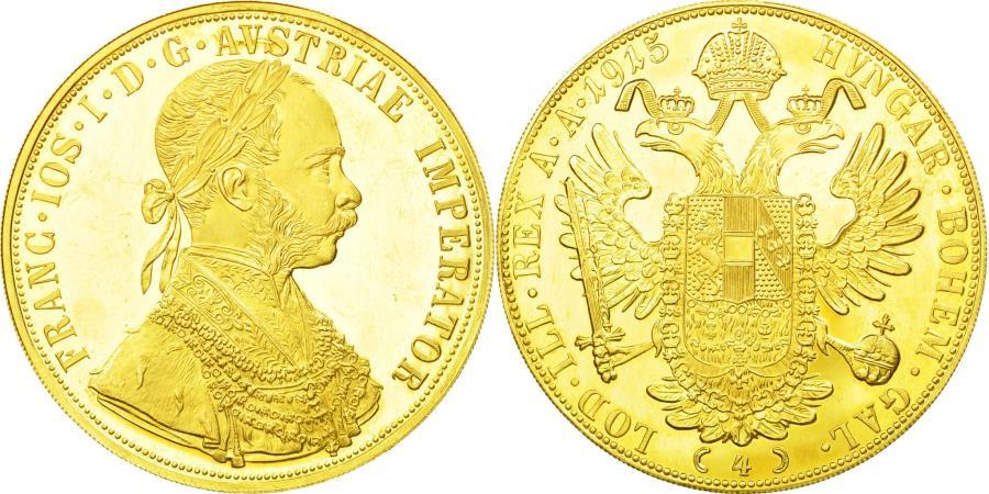 World Coins - Coin, Austria, Franz Joseph I, 4 Ducat, 1915, , Gold, KM:2276