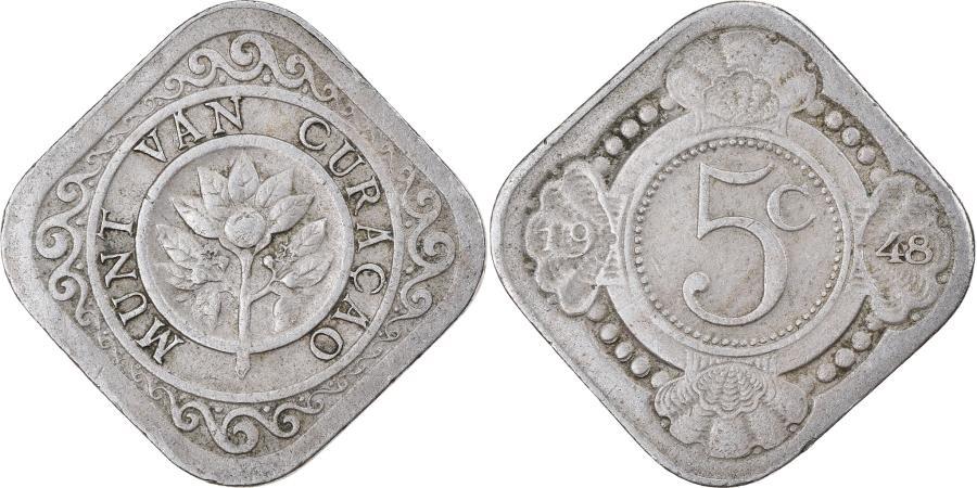 World Coins - Coin, Curacao, 5 Cents, 1948, Denver, , Copper-nickel, KM:47