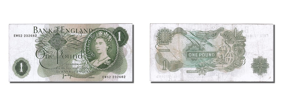 World Coins - Great Britain, 1 Pound, KM #374g, AU(55-58), EW52