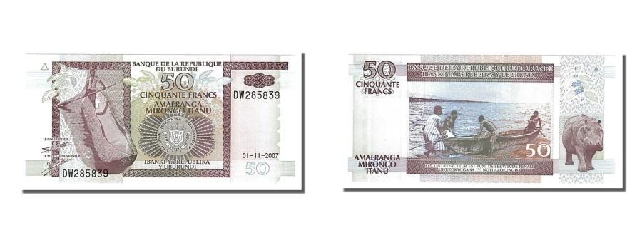 World Coins - Burundi, 50 Francs, 2007, KM #36g, 2007-11-01, UNC(65-70), DW