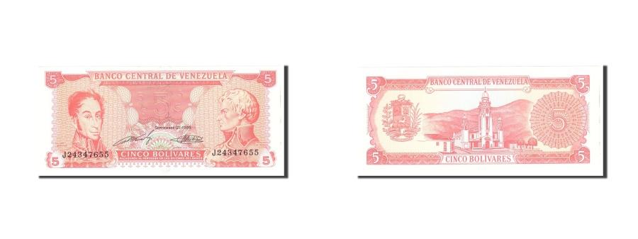 World Coins - Venezuela, 5 Bolivares, 1989, KM:70b, 1989-09-21, UNC(65-70)