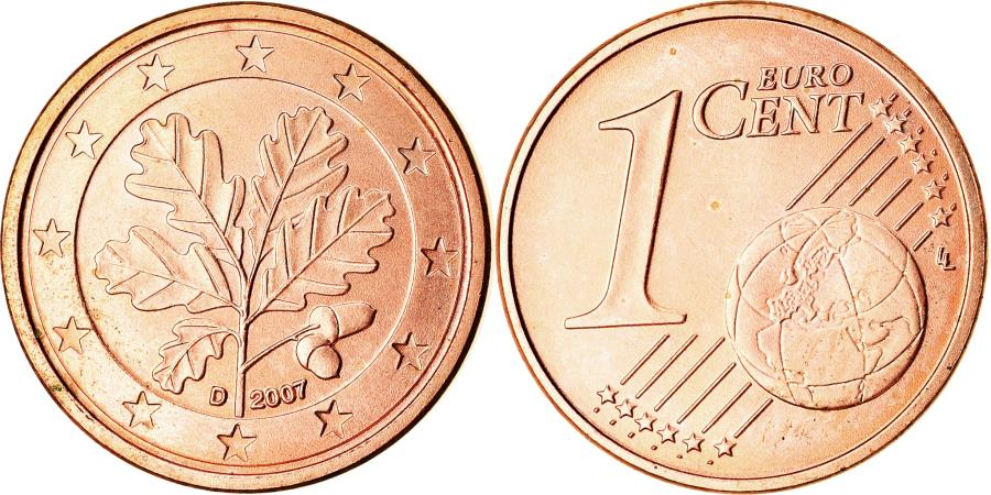 World Coins - GERMANY - FEDERAL REPUBLIC, Euro Cent, 2007, , Copper Plated Steel, KM:207