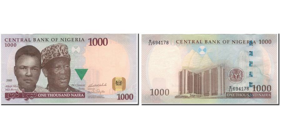 World Coins Banknote Nigeria 1000 Naira 2005 Km 36a
