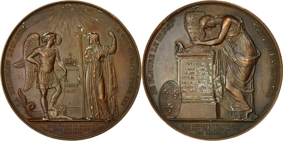 World Coins - France, Medal, Louis XVIII, Hommage aux Bourbons, 1820, Gayrard,