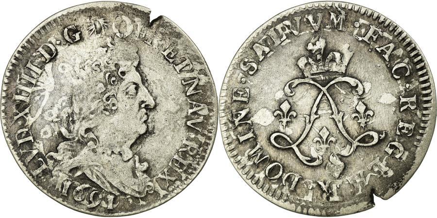World Coins - Coin, France, Louis XIV, 4 Sols aux 2 L, 4 Sols 2 Deniers, 1691, Amiens