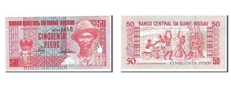 World Coins - Guinea-Bissau, 50 Pesos, 1990, KM #10, UNC(65-70), AB548858