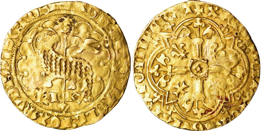 World Coins - Coin, France, Charles VII, Agnel d'or, Montpellier, , Gold