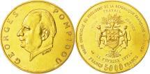 World Coins - Coin, Gabon, Georges Pompidou, 5000 Francs, 1971, EF(40-45), Gold, KM:11