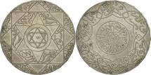 Morocco, 'Abd al-Aziz, 5 Dirhams, 1899, Paris, EF(40-45), Silver, KM:12.2