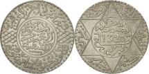 Morocco, 'Abd al-Aziz, 1/2 Rial, 5 Dirhams, 1902, Berlin, AU(50-53), Silver