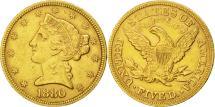 Us Coins - United States, Coronet Head, $5, 1880, Philadelphia, EF(40-45), KM:101