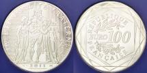 World Coins - FRANCE, 100 Euro, 2011, Paris, KM #1724, MS(65-70), Silver, 47, Gadoury #21,...