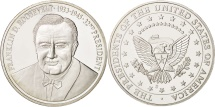 Us Coins - United States, Medal, Franklin Roosevelt, MS(65-70), Copper Plated Silver