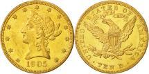 Us Coins - United States, Coronet Head, $10, 1905, Philadelphia, MS(63), Gold, KM:102