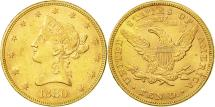 Us Coins - United States, Coronet Head, $10, Eagle,1880,Philadelphia,Gold, EF(40-45),KM 102
