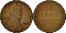 Us Coins - United States, Lincoln Cent, Cent, 1945, U.S. Mint, Philadelphia, EF(40-45)
