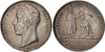 World Coins - France, Medal, Charles X, Coronation at Reims, 1825, Gayrard, AU(55-58), Silver