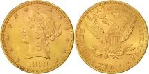 Us Coins - United States, Coronet Head, $10, Eagle, 1899, Philadelphia, AU(55-58), KM 102