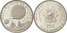 World Coins - Coin, Guinea, 250 Francs, 1970, MS(63), Silver, KM:12