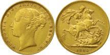 World Coins - Great Britain, Victoria, Sovereign, 1885, EF(40-45), Gold, KM:752