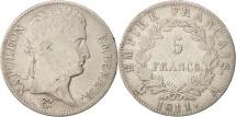 France, 5 Francs, 1811, Paris, VF(30-35), Silver, KM:694.1, Gadoury:584