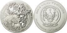 World Coins - Rwanda, 50 Francs, 2012, MS(65-70), Silver, KM:37