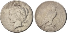 Us Coins - United States, Peace Dollar, 1922, U.S. Mint, San Francisco, VF(20-25), KM:150