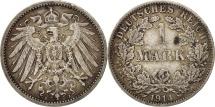 GERMANY - EMPIRE, Wilhelm II, Mark, 1914, Berlin, AU(50-53), Silver, KM:14