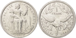 World Coins - New Caledonia, Franc, 1989, Paris, , Aluminum, KM:10