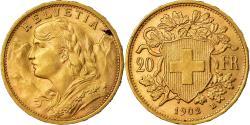 Coin, Switzerland, 20 Francs, 1902, Bern, , Gold, KM:35.1