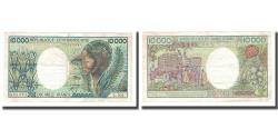 World Coins - Banknote, Central African Republic, 10,000 Francs, KM:13, VF(30-35)