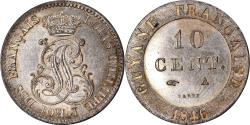 World Coins - Coin, FRENCH GUIANA, Louis-Philippe, 10 Centimes, 1846, Paris,