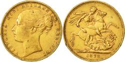 World Coins - Coin, Great Britain, Victoria, Sovereign, 1872, AU(50-53), Gold, KM:736.1
